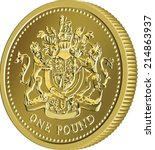 Vector British Money Gold Coin...