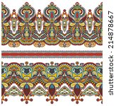 seamless ethnic floral paisley... | Shutterstock . vector #214878667