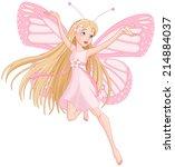 illustration of flying... | Shutterstock .eps vector #214884037
