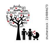 family design over white ... | Shutterstock .eps vector #214884673