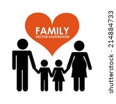 family design over white ... | Shutterstock .eps vector #214884733