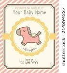 baby girl announcement card... | Shutterstock .eps vector #214894237