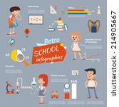vector back to school vintage... | Shutterstock .eps vector #214905667