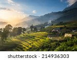 rice fields on terraced in... | Shutterstock . vector #214936303