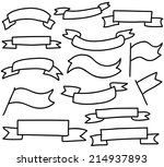 vector ribbons tags sketch set | Shutterstock .eps vector #214937893