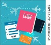 vector travel flat background | Shutterstock .eps vector #214941283