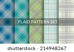 plaid patterns. vector set. | Shutterstock .eps vector #214948267