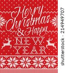 merry christmas and happy new... | Shutterstock .eps vector #214949707