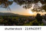 sunset at st. john church  in... | Shutterstock . vector #214963597