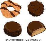 girl scout cookies | Shutterstock . vector #21496570