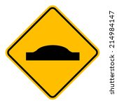 caution sign road on isolated... | Shutterstock .eps vector #214984147