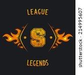 league legends   sporty emblem... | Shutterstock .eps vector #214995607
