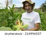organic farming  portrait of an ... | Shutterstock . vector #214996537