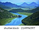 panorama of a winding river | Shutterstock . vector #214996597