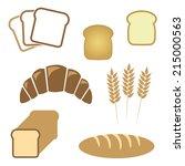 set of white bread  bakery... | Shutterstock .eps vector #215000563