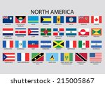 north america continent flag... | Shutterstock .eps vector #215005867