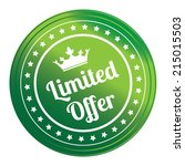 green circle metallic style... | Shutterstock . vector #215015503