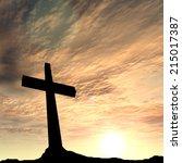concept conceptual black cross... | Shutterstock . vector #215017387