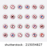 icon set   forbidden | Shutterstock .eps vector #215054827