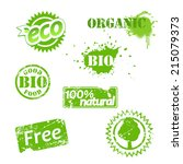 set of used bio labels. | Shutterstock .eps vector #215079373