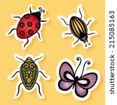 set of stickers with ornamental ... | Shutterstock . vector #215085163
