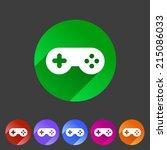 game joystick flat icon badge