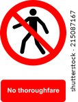 no thoroughfare | Shutterstock .eps vector #215087167