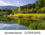 summer mountains landscape with ... | Shutterstock . vector #215091643