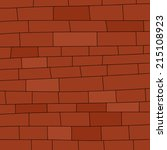 Blank Red Brick Wall Hand Draw...