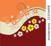 abstract floral background with ...   Shutterstock .eps vector #21514498