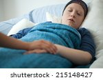 horizontal view of sleeping... | Shutterstock . vector #215148427