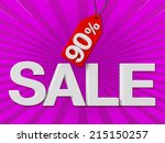 3d sale text with percent... | Shutterstock . vector #215150257