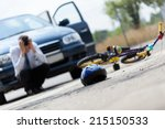 horizontal view of a scared...   Shutterstock . vector #215150533