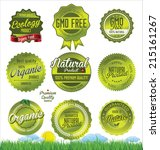 natural  organic product retro... | Shutterstock .eps vector #215161267
