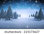 composite image of snowy... | Shutterstock . vector #215173627