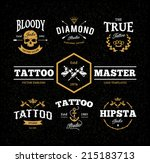 Vector Set Of Cool Tattoo...