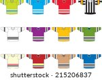 ice hockey jerseys set of 12...   Shutterstock .eps vector #215206837