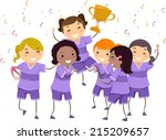 illustration featuring a group... | Shutterstock .eps vector #215209657