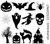 halloween elements. | Shutterstock . vector #215220967