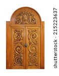Carved Door Isolated On A Whit...