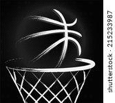 basketball sport ball  hand... | Shutterstock .eps vector #215233987