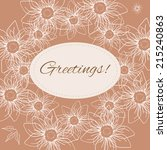 greeting card with sample text... | Shutterstock .eps vector #215240863
