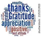gratitude in word collage | Shutterstock . vector #215251903