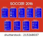 european soccer championship ... | Shutterstock .eps vector #215268037