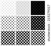 tile pattern set with black and ... | Shutterstock . vector #215279317