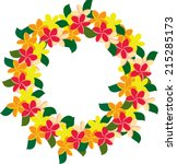 plumeria wreath | Shutterstock .eps vector #215285173