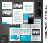 white classic vector brochure... | Shutterstock .eps vector #215288167