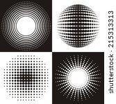 black vector circle abstract... | Shutterstock .eps vector #215313313