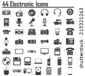 electronic devices | Shutterstock .eps vector #215321263