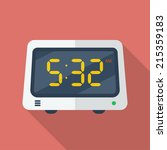 electronic alarm clock icon.